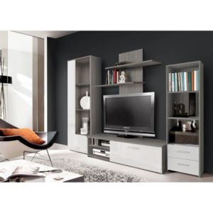 finlandek salon finlandek meuble tv mural pysy 230 cm. Black Bedroom Furniture Sets. Home Design Ideas