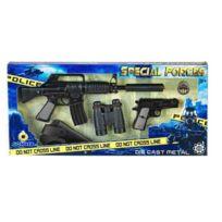 Wdk Partner - A1402396 - Jeu De Tir - Set Police - Fusil + Pistolet