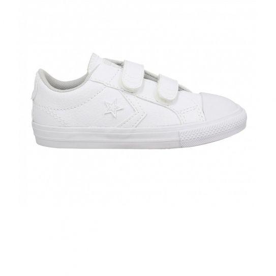 8626adbcc371f Converse - Chaussures Star Player Ev 2v Ox White White - pas cher Achat    Vente Baskets enfant - RueDuCommerce