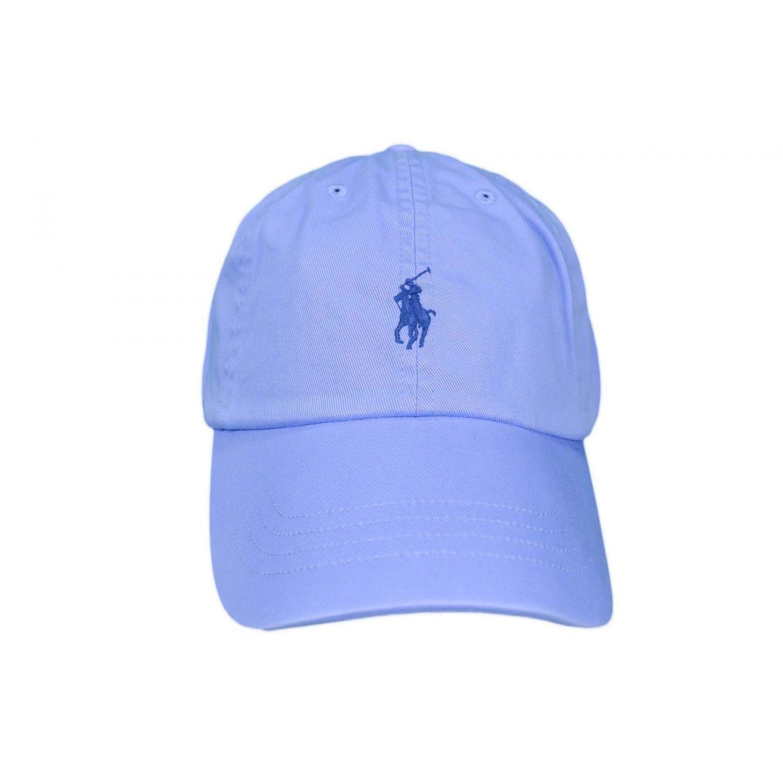 RALPH LAUREN- Casquette basique bleu ciel pour mixte 953b34db137