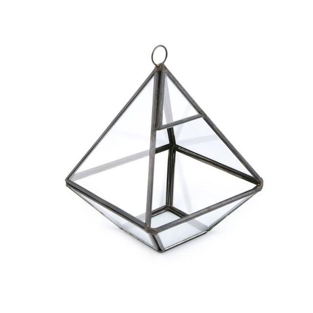 Marque Generique 1pc Noir Transparent en Verre en Forme de Pyramide de Jardin Aerium 10