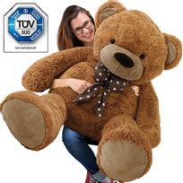 Justdeco - Superbe Grand Nounours Géant Ours En Peluche Ourson Xxl Teddy Bear 150 Cm diag - Brun Neuf