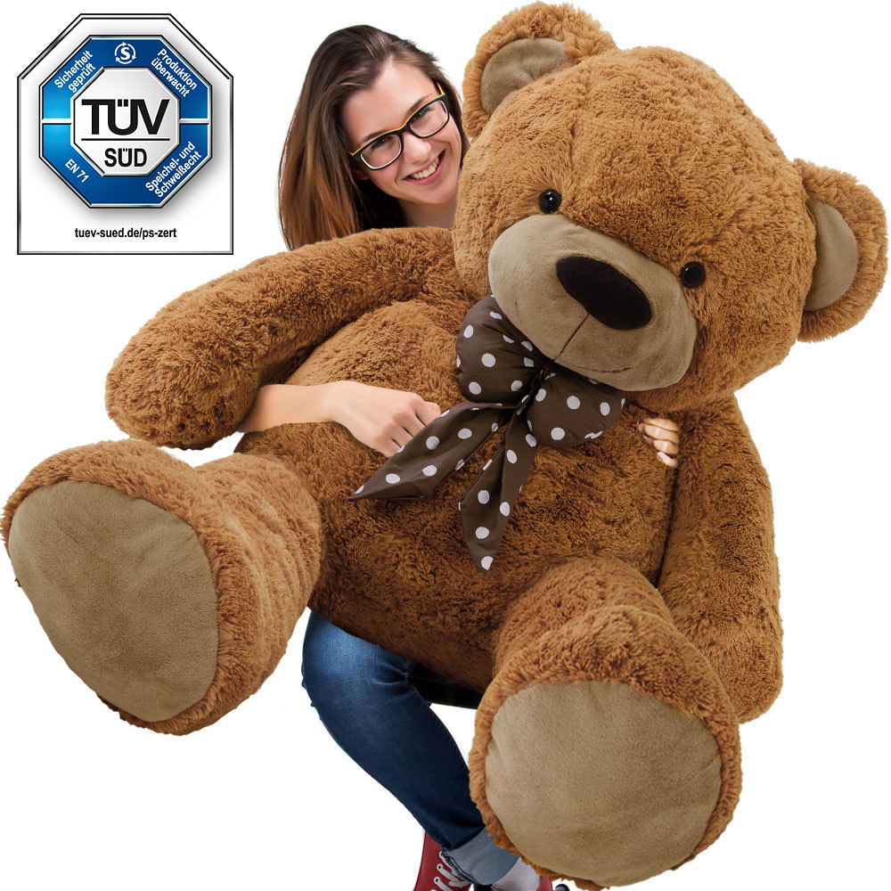 Superbe Grand Nounours Géant Ours En Peluche Ourson Xxl Teddy Bear 150 Cm diag - Brun Neuf