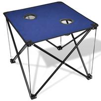 Rocambolesk - Superbe Table de camping pliante bleue Neuf