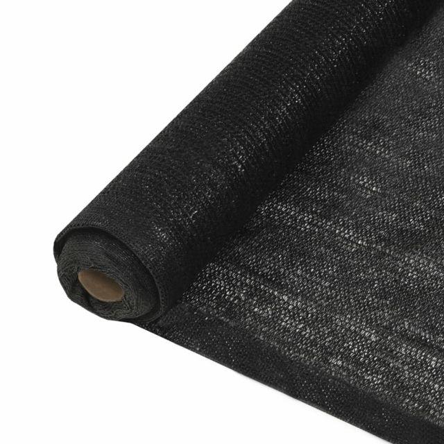 Vidaxl Filet brise-vue Pehd 1,5 x 10 m Noir