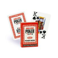 World Series Of Poker - Cartes Wsop Poker / Jumbo rouge