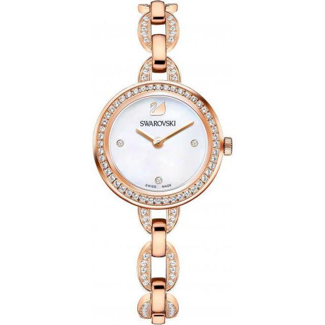 131182853efd7 Swarovski Montres - Montre Swarovski 5253329 - Montre Bracelet Cristaux Or  Femme