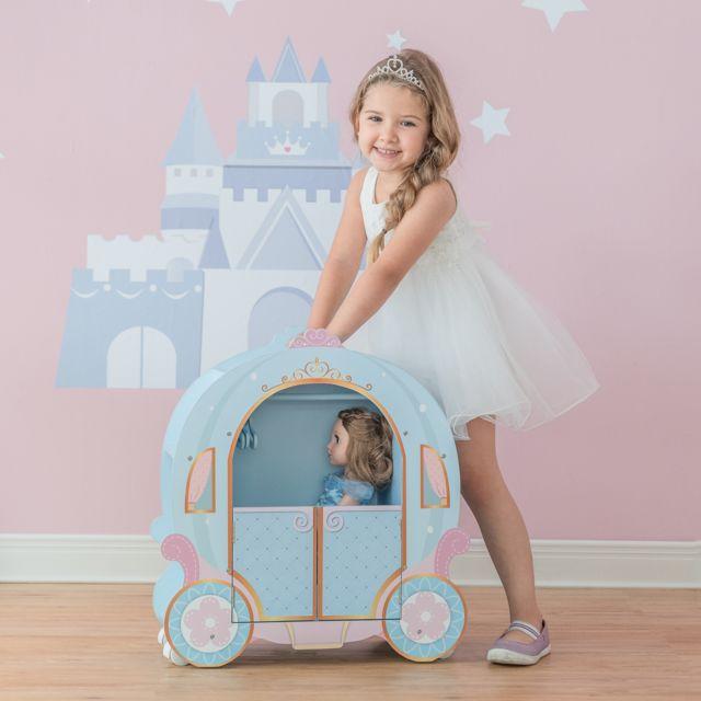 OLIVIA'S LITTLE WORLD Armoire à poupée princesse pour enfant forme de carrosse citrouille bleu Olivia's Little World TD-12948A