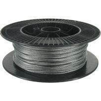 Levac - Câble acier galvanisé Ame textile Diam.2,5mm Résistance à la rupture 400kg