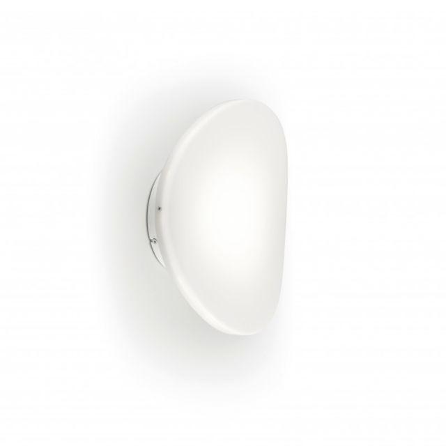 Leds C4 Applique Skata, acier et verre opale, blanc mat