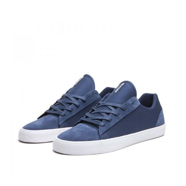 newest 091db 17088 Supra - Baskets Homme Shoes Assault Navy Suede Nylon Bleu marine - 38 12 -  pas cher Achat  Vente Baskets homme - RueDuCommerce