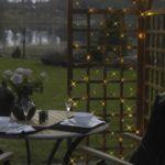 Xmas Living Glass - Net - Guirlande d'extérieur Treille noir 90 Led blanc 12m - Luminaire d'extérieur designé par