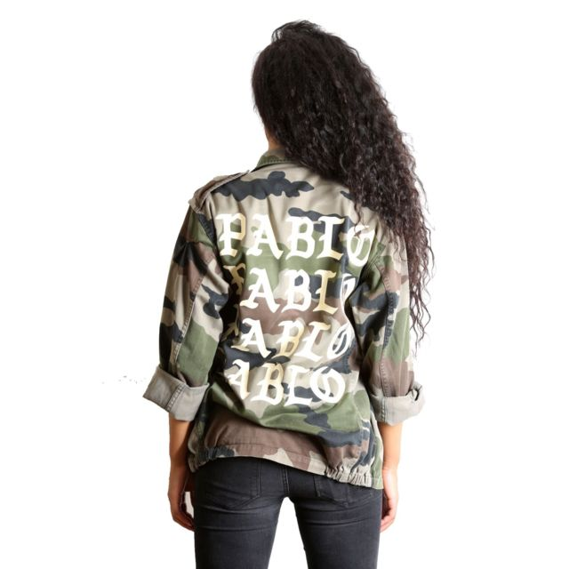 Magic custom - I Feel Like Pablo - Veste Militaire Camouflage Coton