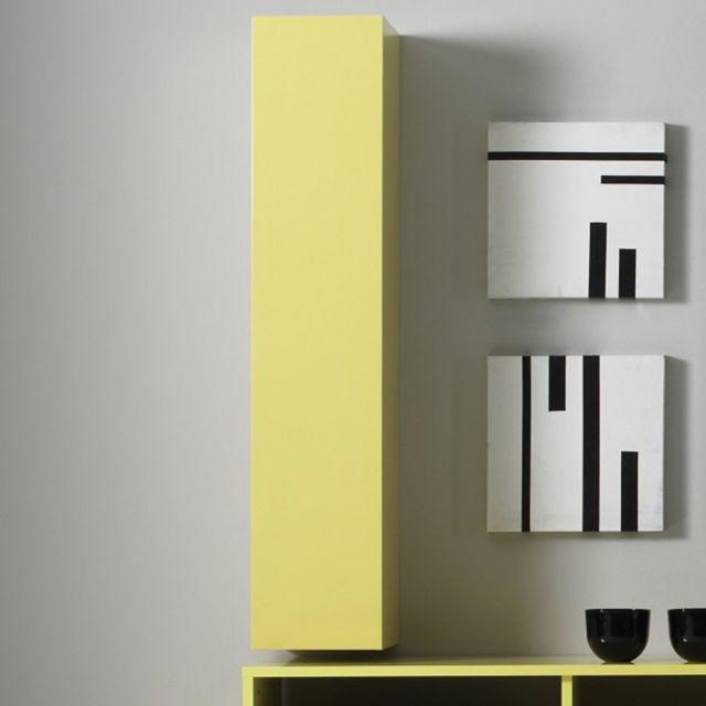 Sofamobili Meuble suspendu jaune laqué design Lorelis