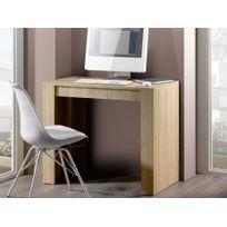 Marque Generique - Table console extensible avec rallonges jusqu'à 223 ou 270cm Extenso - Chêne - 5 rallonges