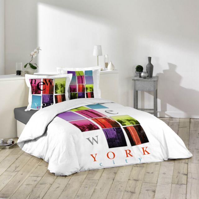 la maison d 39 amelie parure de couette 100 coton 200x200 rif pas cher achat vente housses. Black Bedroom Furniture Sets. Home Design Ideas
