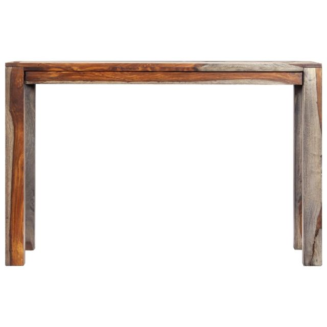 Icaverne - Tables à manger serie Table de salle à manger Gris 118x60x76 cm Bois de Sesham solide