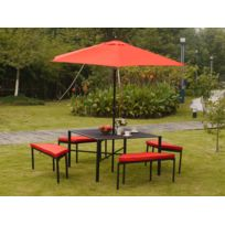 Jardin Express - Salon de jardin haut avec parasol Manhattan