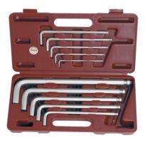Kraftwerk - Coffret de 10 clés mâles 6 pans à tête sphérique extra longue