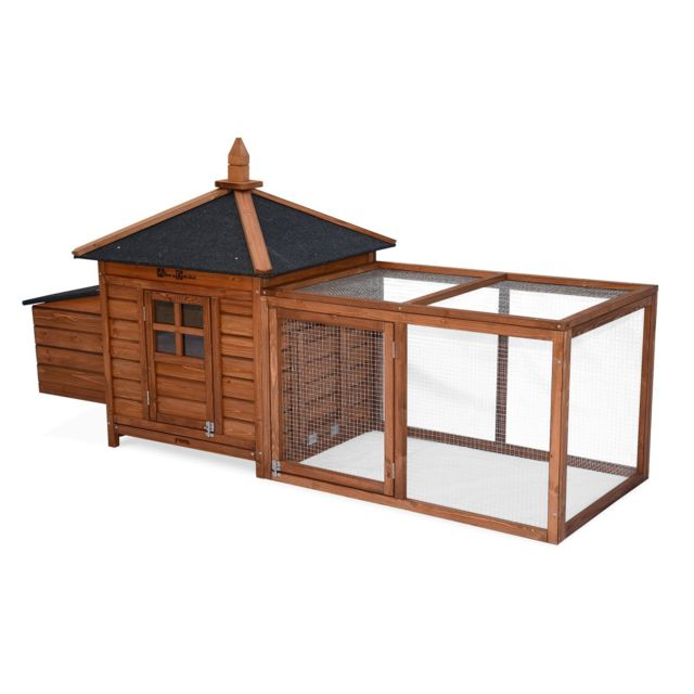 ALICE'S GARDEN Poulailler en bois JAVA, 4 poules, cage à poule avec enclos