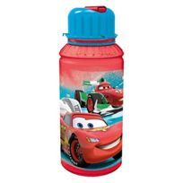 Pos - CARS Trinkflasche. Transparent. 450ML Mir Strohhalm. Tritan. 1 Design