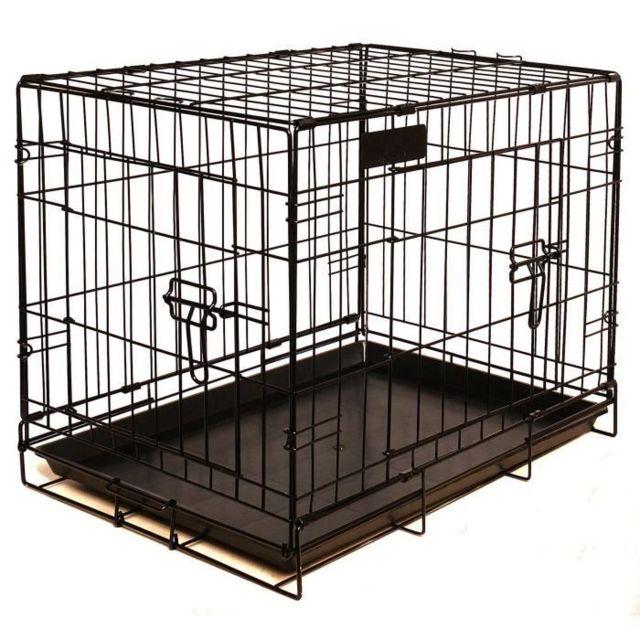 CAGE Cage pour chien - Taille M - Noir - 79 cm