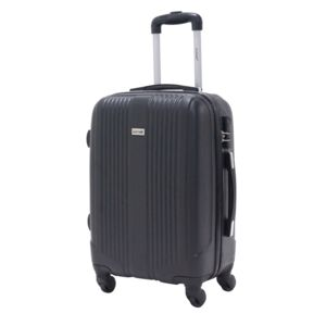 Alistair - Valise cabine 55cm - Trolley Airo - Abs ultra Léger - 4 roues Noir