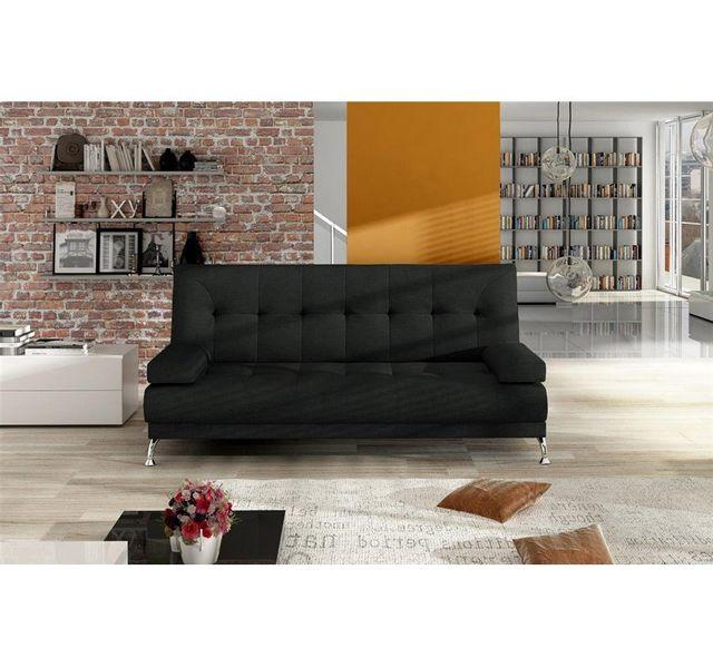 Chloe Design Canapé convertible en tissu Nasro - noir