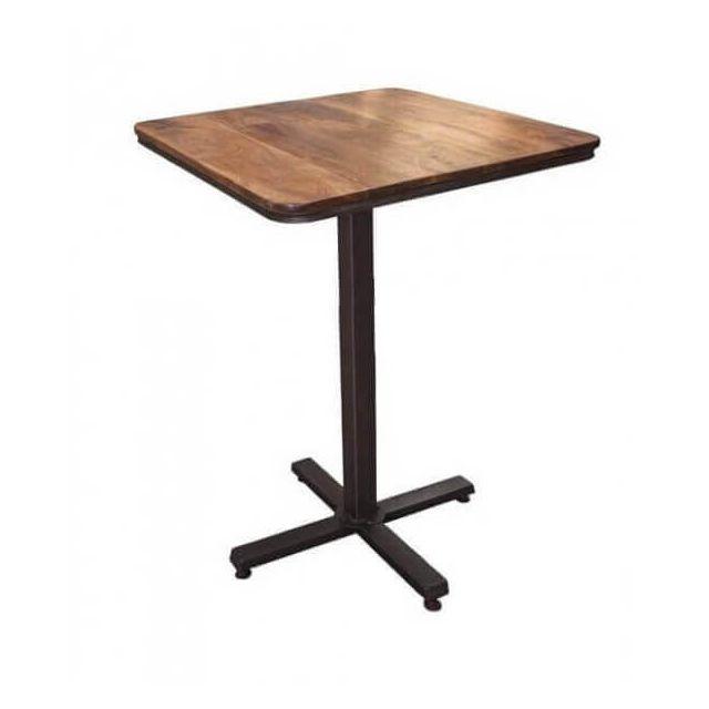 Mathi Design Tapas - Table haute plateau en Acacia massif
