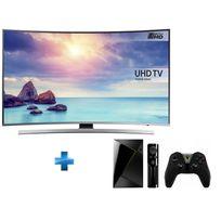 Samsung - TV LED 55'' 4K UHD Curved Smart TV -UE55KU6640 + Nvidia Shield ATV