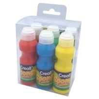 Creall - Peinture à l'éponge pour enfant 6 flacons mousse