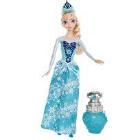 Mattel - Peluche - La Reine des neiges poupée Elsa Couleur Royale 30 cm