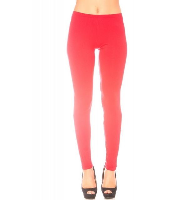 Couleur RougeTaille Mode Fashion Leggings 45 Rouge 34ARL5jqc