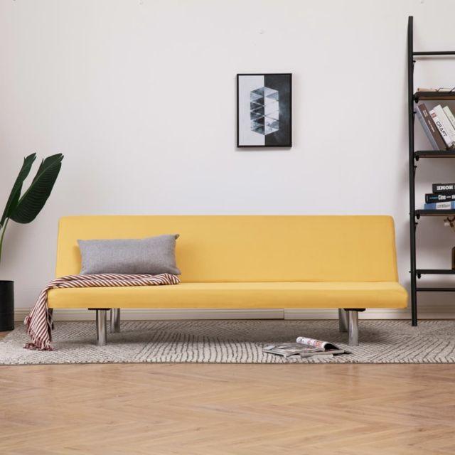 Moderne Meubles collection Caracas Canapé-lit Jaune Polyester