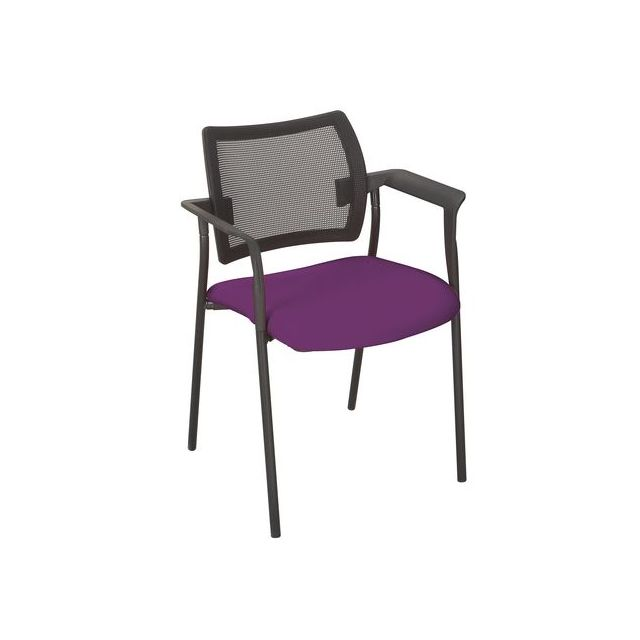 Sokoa Fauteuil Amets dossier maille assise violette