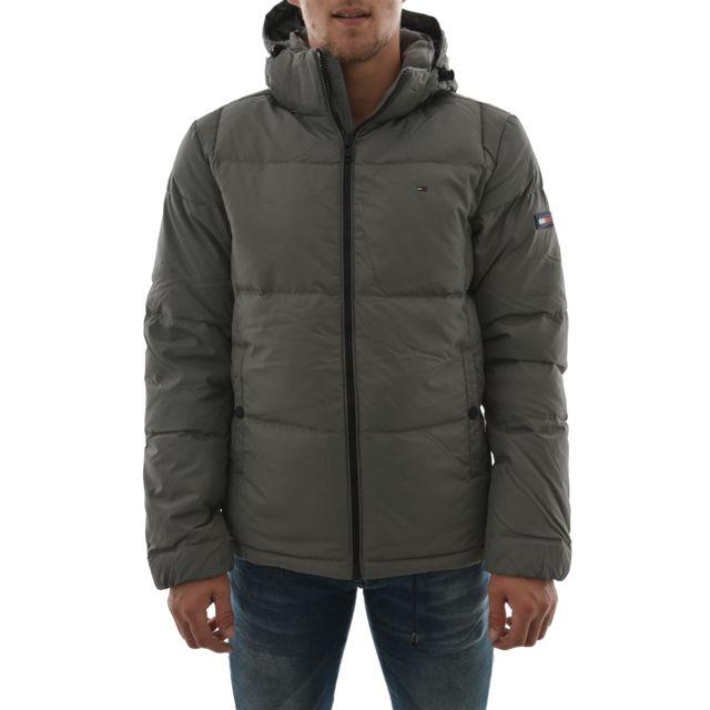 Doudounes jacket 15 Manteau L Hilfiger cher Vente Tommy pas down RueDuCommerce homme gris basic Achat RZwqx5U
