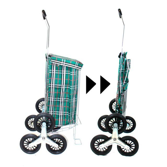 caddie poussette de march pliante 40l 6 roues vert. Black Bedroom Furniture Sets. Home Design Ideas