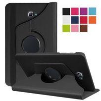 Xeptio - Housse Samsung Galaxy Tab A 10.1 2016 / Tab A6 T580/T585/T580N, 10,1 pouces Cuir Style noir rotative - Etui coque de protection
