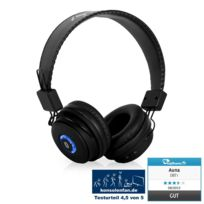Auna - Dbt-1 Casque Bluetooth 2.1 + Edr Batterie kit mains-libres noir