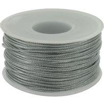 Levac - Câble acier galvanisé Ame textile Diam.2mm Résistance à la rupture 239kg