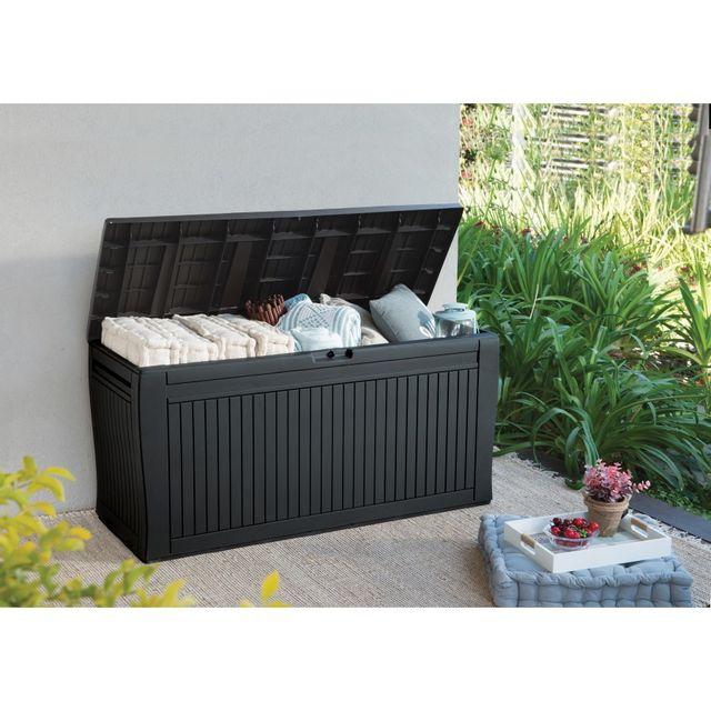 keter coffre resine panama pas cher achat vente coffre de jardin rueducommerce. Black Bedroom Furniture Sets. Home Design Ideas