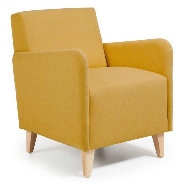 Kavehome Fauteuil Arck, moutarde