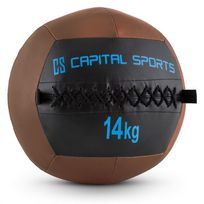 CAPITAL SPORTS - Epitomer Wall Ball 14kg cuir synthétique marron