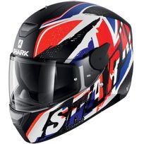 Shark - casque moto intégral polycarbonate D-skwal Ujack Wbr noir rouge bleu mat Xl