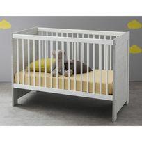 Marque Generique - Lit bébé à barreaux 60x120 cm en bois avec sommier 3 hauteurs Cherubin - Sans tiroir