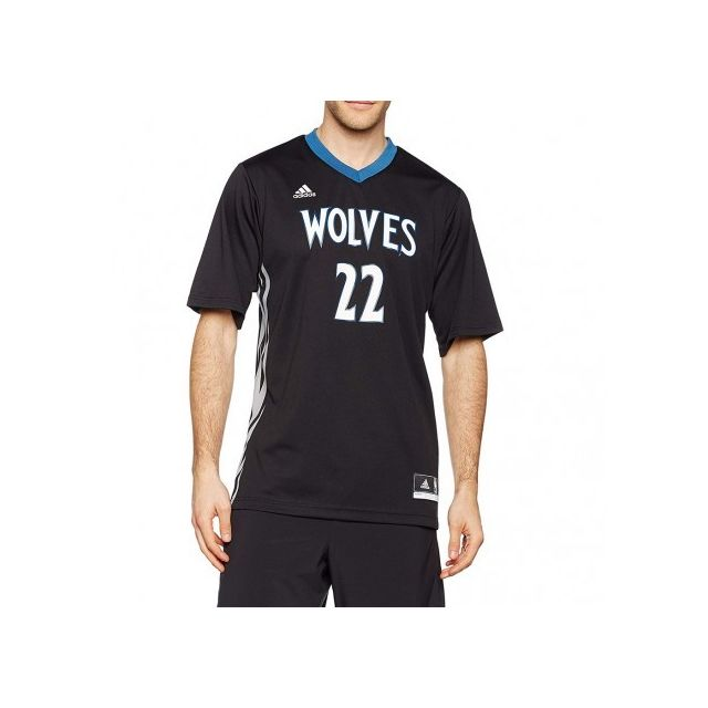 Adidas originals - Minnesota Timberwolves Wiggins Homme Maillot Basketball Noir Adidas