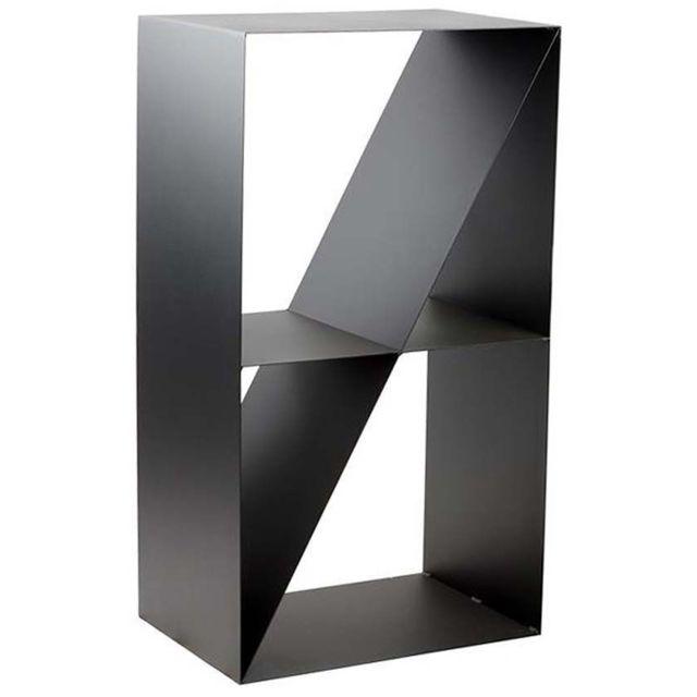 Porte,bûches design 4 compartiments en acier Lodz