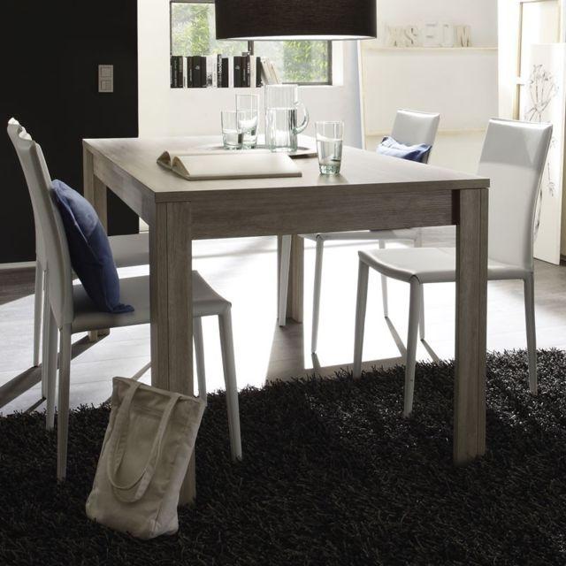 Tousmesmeubles Table de repas Chêne gris 160 cm - Ardesia