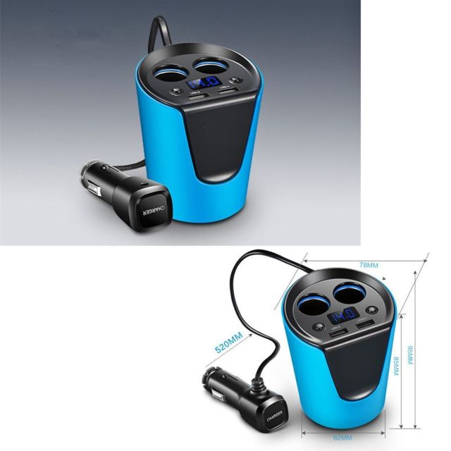Commutateur Double USB Port Chargeur Allume Cigare Prise Pour 12V//24V