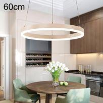 Lampe suspendue Luminaire Salon Anneau minimaliste moderne Led lustres restaurant chambre personnalité créative lampes rondes en aluminium, cercle